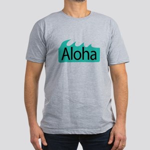 Aloha Waves Men's Fitted T-Shirt (dark)