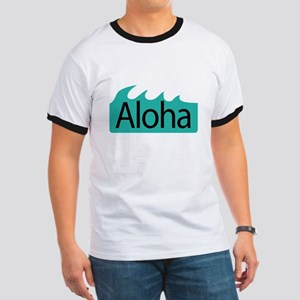 Aloha Waves Ringer T