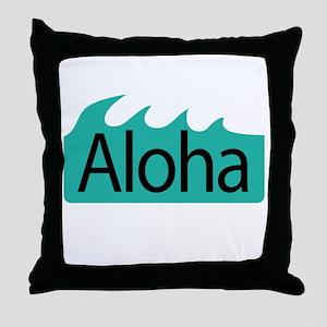 Aloha Waves Throw Pillow