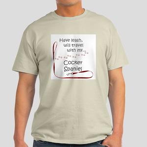 Cocker Travel Leash Light T-Shirt