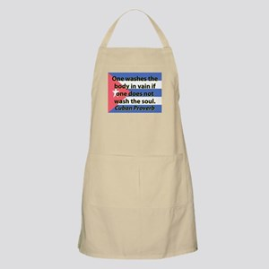 One Washes the Body Light Apron