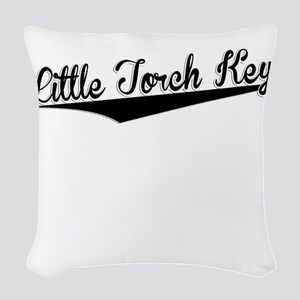 Little Torch Key, Retro, Woven Throw Pillow