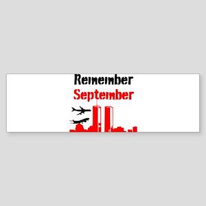 Remember September Bumper Sticker