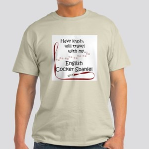 English Cocker Travel Leash Light T-Shirt