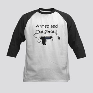 Armed and Dangerous Crafts Kids Baseball Jersey