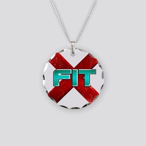 Cross Fit Workout! Necklace Circle Charm
