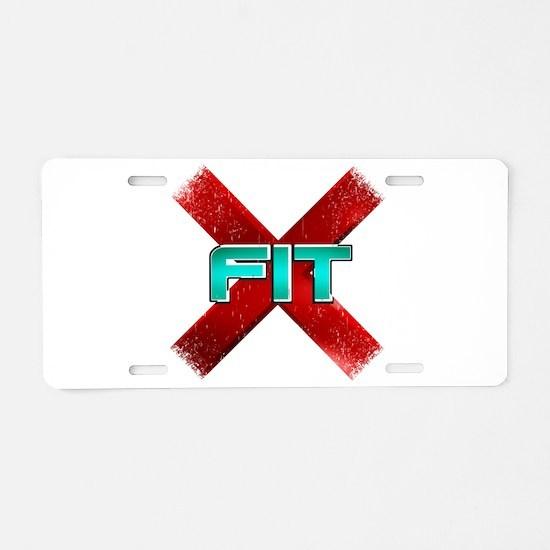 Cross Fit Workout! Aluminum License Plate