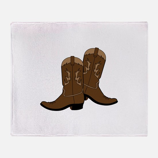Cowboy Boots Throw Blanket