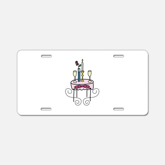 Paris Cafe Aluminum License Plate