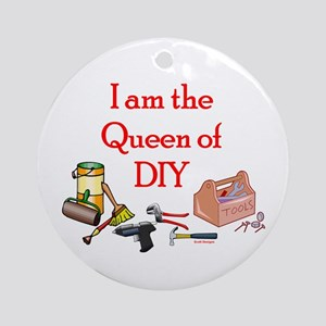 Queen of D.I.Y. Ornament (Round)