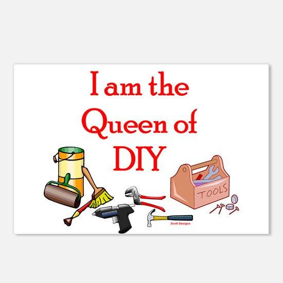 Queen of D.I.Y. Postcards (Package of 8)