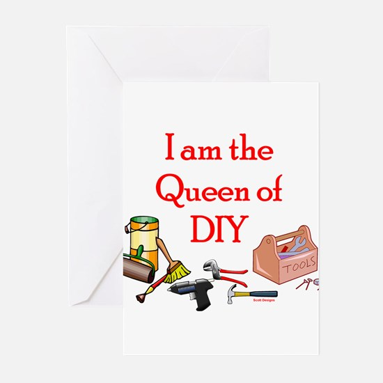 Queen of D.I.Y. Greeting Cards (Pk of 10)