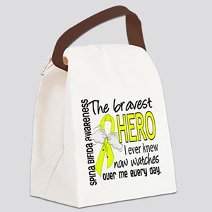 Spina Bifida BravestHero1 Canvas Lunch Bag