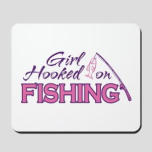 Girl Hooked On Fishing Mousepad