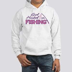 Girl Hooked On Fishing Hooded Sweatshirt
