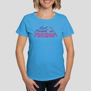 Girl Hooked On Fishing Women's Dark T-Shirt