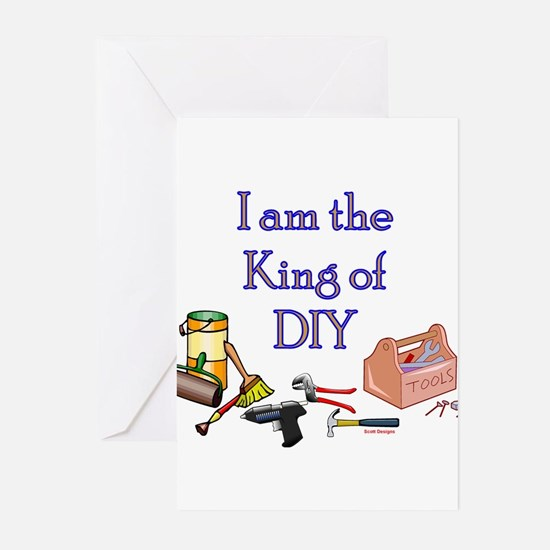 King of D.I.Y. Greeting Cards (Pk of 10)