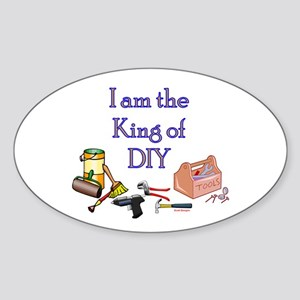 King of D.I.Y. Oval Sticker