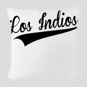 Los Indios, Retro, Woven Throw Pillow