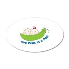 two peas in a pod Wall Decal