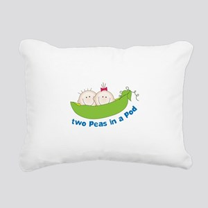 two peas in a pod Rectangular Canvas Pillow