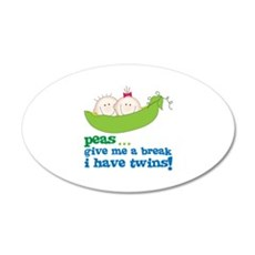 peas...give me a break, i have twins! Wall Decal