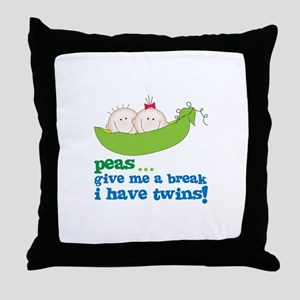peas...give me a break, i have twins! Throw Pillow