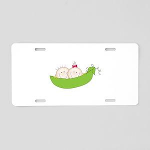 Peas In A Pod Aluminum License Plate