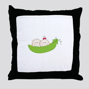Peas In A Pod Throw Pillow