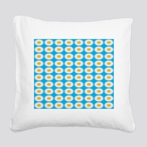 Tiled Sunflowers 200 Square Canvas Pillow