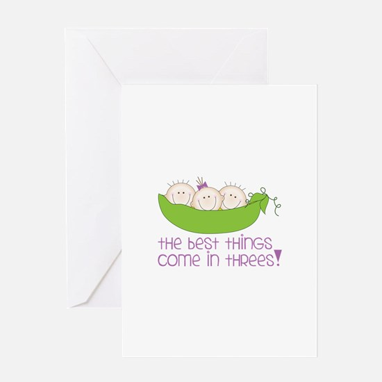 tHe best tHinGs come in tHRess! Greeting Cards