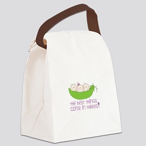 tHe best tHinGs come in tHRess! Canvas Lunch Bag