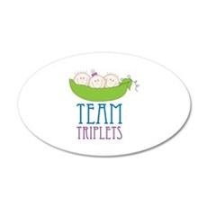 TEAM TRIPLETS Wall Decal