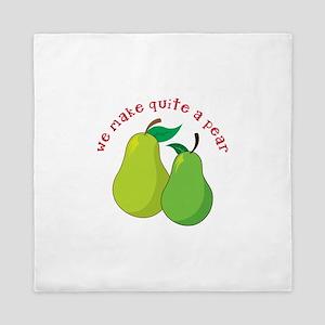 we make quite a pear Queen Duvet