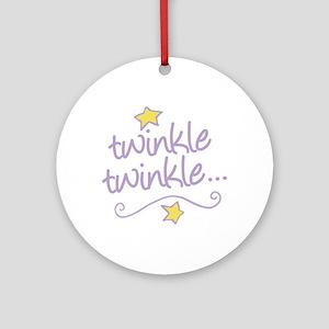 Twinkle Twinkle Ornament (Round)