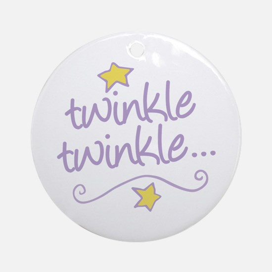 Twinkle Twinkle Ornament (Round)