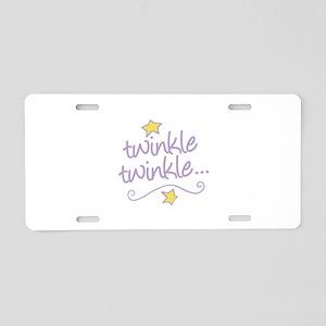 Twinkle Twinkle Aluminum License Plate