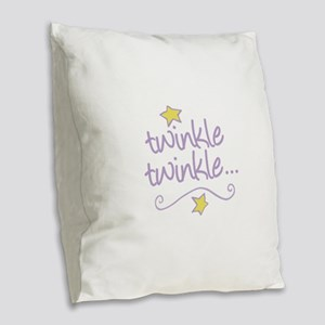 Twinkle Twinkle Burlap Throw Pillow
