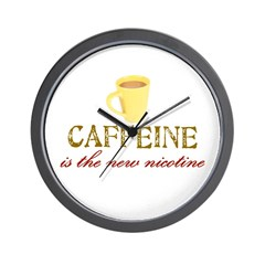 Caffeine/Nicotine Wall Clock