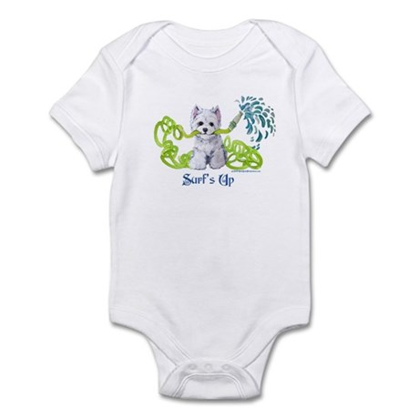 Westie Surf's Up Terrier Infant Bodysuit
