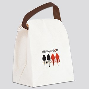 Addicted To Shoes Canvas Lunch Bag