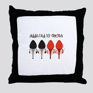 Addicted To Shoes Throw Pillow