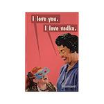 I Love You. Vodka. Bluntcard Magnets