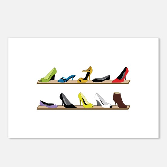 Heeled Shoe Stack Postcards (Package of 8)