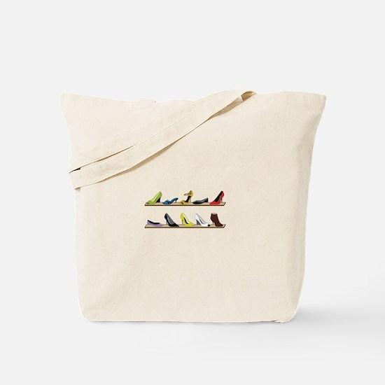 Heeled Shoe Stack Tote Bag