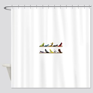Heeled Shoe Stack Shower Curtain
