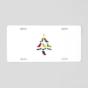 Shoe Tree Aluminum License Plate
