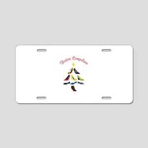 Festive Compulsive Aluminum License Plate