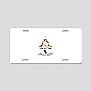 Celebrate With Shoes Aluminum License Plate