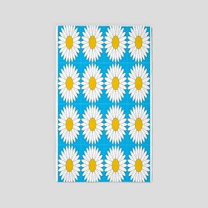 Tiled Sunflowers 4/100 3'x5' Area Rug